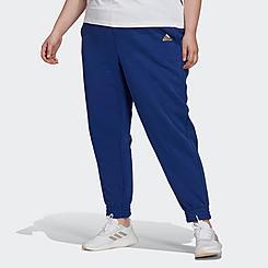 Women's adidas Essentials Warm Golden Logo Jogger Pants (Plus Size)