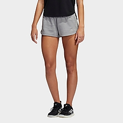 Women's adidas Pacer 3-Stripes Woven Heather Training Shorts