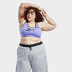 Women's Reebok Lux Racer Medium-Support Sports Bra (Plus Size)
