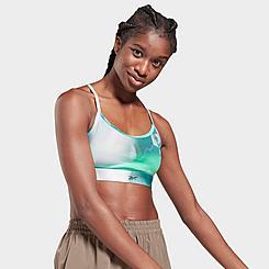 Women's Reebok Lux Skinny Graphic Print Medium-Support Sports Bra