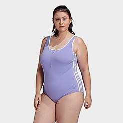 Women's adidas Originals Adicolor Classics Primeblue Swimsuit (Plus Size)