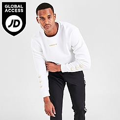 Men's adidas Originals Metallic Trefoil Crewneck Sweatshirt