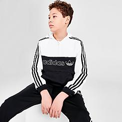 Kids' adidas Originals Spirit 2.0 Half-Zip Pullover Hoodie