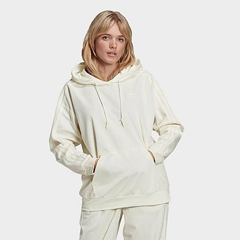 Adidas Originals Cottons ADIDAS WOMEN'S ORIGINALS VELVET CORDUROY HOODIE