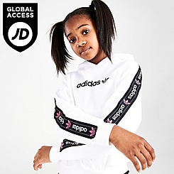 Girls' adidas Originals Taped Logo Pullover Hoodie