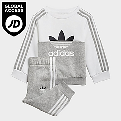 Infant and Kids' Toddler adidas Originals Sliced Trefoil Crewneck Sweatshirt and Jogger Pants Set