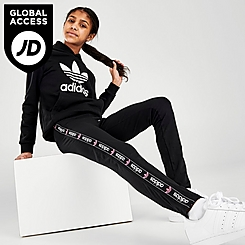 Girls' adidas Original Logo Taped Leggings