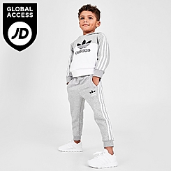 Kids' Toddler and Little Kids' adidas Originals Sliced Trefoil Pullover Hoodie and Jogger Pants Set