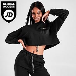 Women's adidas Originals Outline Crop Crewneck Sweatshirt