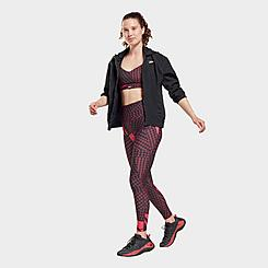 Women's Reebok Lux Bold Shattered Grid High-Rise Workout Leggings