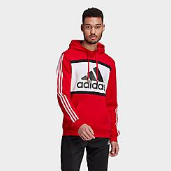 Men's adidas Essentials Logo Colorblock Hoodie