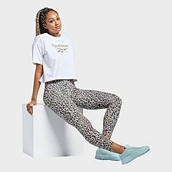 Women's Reebok Classics Halloween Leopard High-Rise Leggings