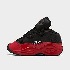"Boys' Toddler Reebok Question Mid ""Street Sleigh"" Basketball Shoes"