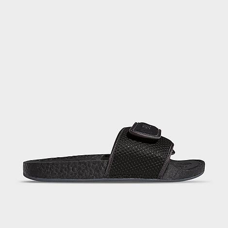 Adidas Originals ADIDAS ORIGINALS X PHARRELL WILLIAMS BLACK AMBITION CHANCLETAS HU SLIDE SANDALS SIZE 12.0
