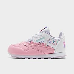 Girls' Toddler Reebok Peppa Pig Classic Leather Casual Shoes