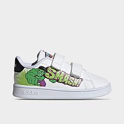 Boys' Toddler adidas Advantage Marvel Hulk Casual Shoes