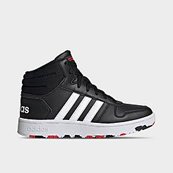 Boys' Big Kids' adidas Hoops 2.0 Mid Top Casual Shoes