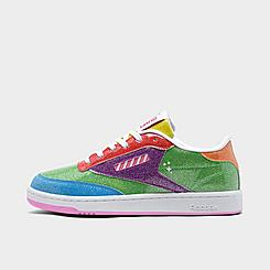 Big Kids' Reebok Candy Land Classic Club C Casual Shoes