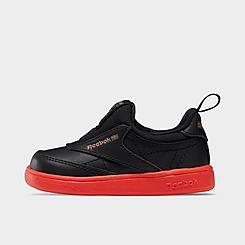 Girls' Toddler Reebok Classics Cardi Coated Club C Double Slip-On III Casual Shoes