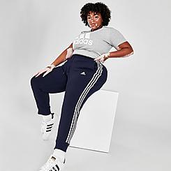 Women's adidas Essentials 3-Stripes Fleece Jogger Pants (Plus Size)