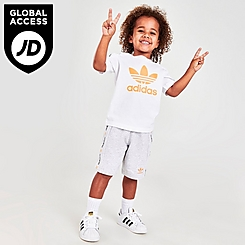 Boys' Infant and Toddler adidas Originals On The Edge T-Shirt and Shorts Set