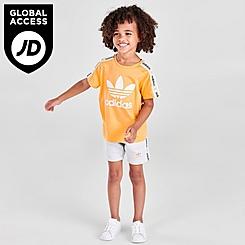 Boys' Little Kids' adidas Originals On The Edge T-Shirt and Shorts Set