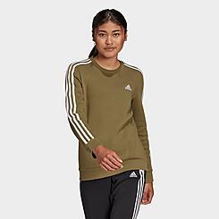 Women's adidas Essentials 3-Stripes Fleece Crewneck Sweatshirt