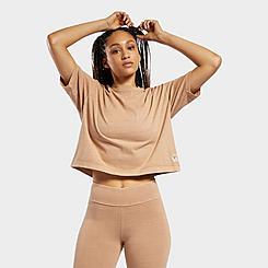 Women's Reebok Classics Non-Dye Cropped T-Shirt
