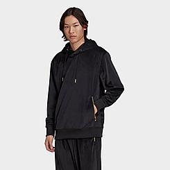 Men's adidas Originals Adicolor Velour Pullover Hoodie