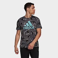 Men's adidas Essentials Camouflage Print T-Shirt
