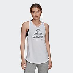 Women's adidas Essentials Best Version Slogan Graphic Tank