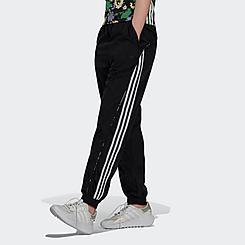 Women's adidas Originals Floral Piping High-Waist Woven Track Pants