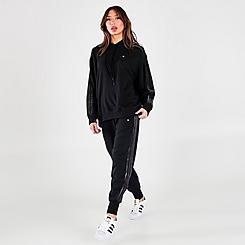 Women's adidas Originals Velvet Stripes with Trefoil Rivet Cuffed Pants