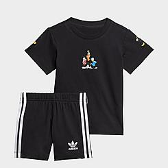 Boys' Infant and Toddler adidas Originals Disney Mickey and Friends Shorts and Shirt Set