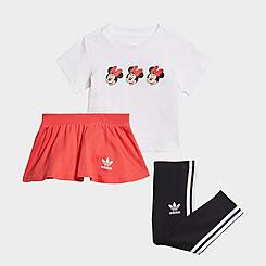 Girls' Infant and Toddler adidas Originals Disney Mickey and Friends Skirt and T-Shirt Set