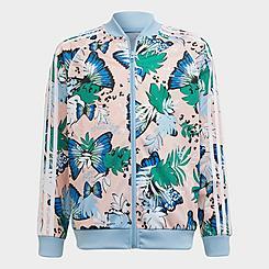 Girls' adidas Originals HER Studio London Animal Floral Print SST Track Jacket