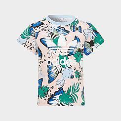 Girls' Little Kids' adidas Originals HER Studio London Animal Floral Print Trefoil T-Shirt