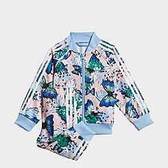 Girls' Little Kids' adidas Originals HER Studio London Animal Floral Print Track Jacket and Pants Set