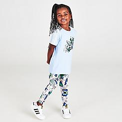 Girls' Infant and Toddler adidas Originals HER Studio London Animal Floral Print Trefoil T-Shirt and Leggings Set