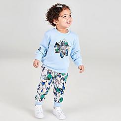 Girls' Infant and Toddler adidas Originals HER Studio London Floral Print Crewneck Sweatshirt and Leggings Set
