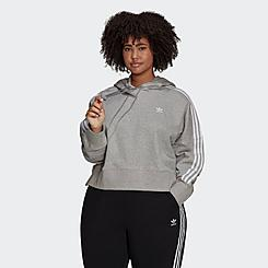 Women's adidas Originals Adicolor Classics Cropped Hoodie (Plus Size)