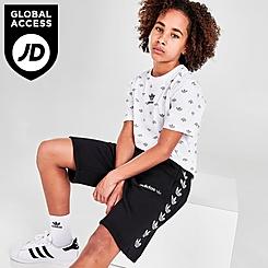 Kids' adidas Originals Repeat Trefoil Fleece Shorts