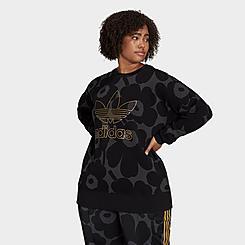 Women's adidas Originals x Marimekko Graphic Print Sweatshirt (Plus Size)