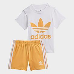 Girls' Infant and Toddler adidas Originals Trefoil T-Shirt and Shorts Set