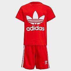 Kids' Infant and Toddler adidas Originals Trefoil T-Shirt and Shorts Set