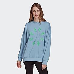 Women's adidas Originals Adicolor Shattered Trefoil Wheel Sweatshirt