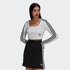 Women's adidas Originals Adicolor Classics Cropped Long-Sleeve T-Shirt