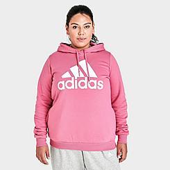 Women's adidas Essentials Logo Hoodie (Plus Size)