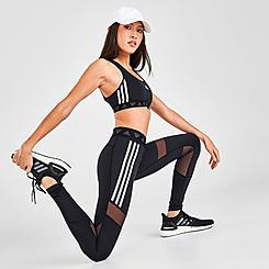 Women's adidas Training Mesh-Panel Badge Of Sport Leggings