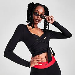 Women's Reebok Classics Cardi B Long-Sleeve Crop Top